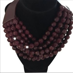 "Fairchild Baldwin ""Bella"" Bordeaux Necklace"